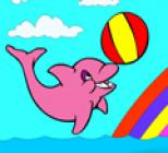 Play Cute Dolphin Coloring