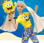 Play Barbie With Sponge Bob