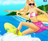 Play Barbie Surfing Day