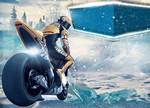 Play Icy Motor Racing 3d