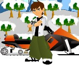 Play Ben 10 Snowmobile