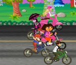 Cartoon Motor Racing