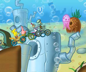 Play Spongebob Cycle Race