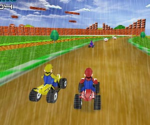 Play Mario Rain Race 2