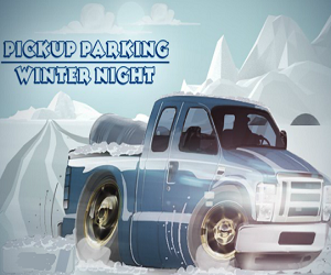 New Pickup Parking Winter Night