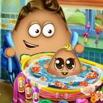 Play Pou Baby Wash